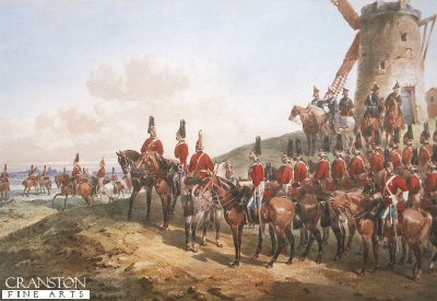 The 1st (Royal) Dragoons, Brighton 1866 by Orlando Norie.