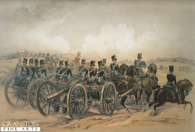 Royal Artillery Field Batteries Taking up Position by Campion.