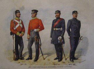 VAR592P.  38th 1st Staffordshire Regiment (Undress Uniforms) 1846 - 1856, 1856 1870, 1870 - 1880.