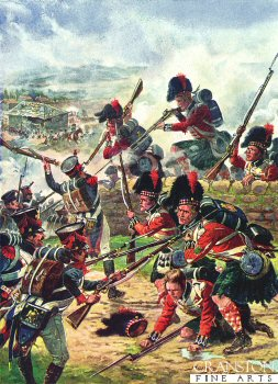 The Attack of the Black Watch, Battle of Corunna by Harry Payne.