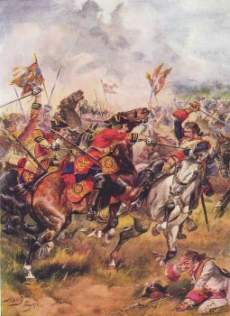 Charge of the Third Dragoons, Battle of Dettingen by Harry Payne.