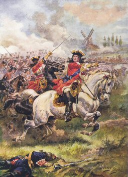 Marlborough Leading the Attack, Battle of Blenheim by Harry Payne.