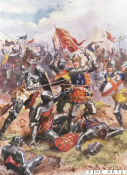 King Henry V Fights With Heroic Valour, Battle of Agincourt by Harry Payne.