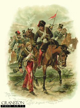 Those Who had Fought so Well.  The Survivors of the Light Brigade Returning from the Valley of Death  by Harry Payne.