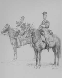 Officer and Bugler, 17th Lancers, Balaclava by Chris Collingwood.