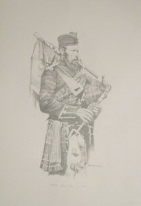 VAR634P.  Piper, 72nd Regiment c.1856 by Chris Collingwood.