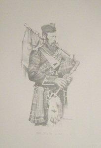 VAR634P.  Piper, 72nd Regiment c.1856 by Chris Collingwood.