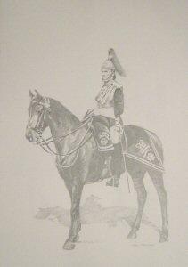 VAR635P.  Lieutenant of the Blues (Royal Horse Guards), c.1891.