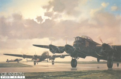 Lancaster BIIIs of 61 Sqn RAF by Keith Woodcock.