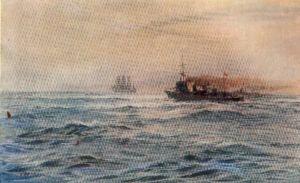 Warning a Merchant Ship of a Minefield by W L Wyllie.