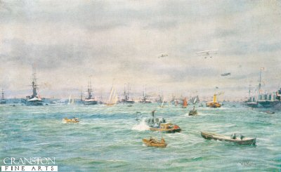 The Great Review at Spithead by W L Wyllie.