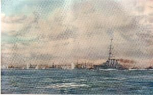 Battle Cruisers, Light Cruisers and Destroyers in Chase by W L Wyllie.