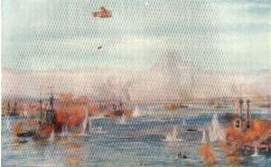 Bombarding the Narrows, March 18th 1915 by W L Wyllie.