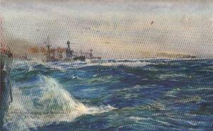 Battle Cruisers Zigzagging in the North Sea by W L Wyllie.