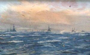 Scapa Flow, A Winter Gale by W L Wyllie.