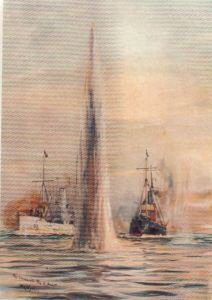 The Chase of the U-boat by W L Wyllie.