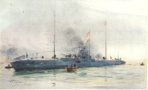 A German Minelayer by W L Wyllie.