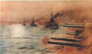 The Second Division at Jutland by W L Wyllie.