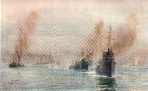 The Battle Cruisers Arrive by W L Wyllie.
